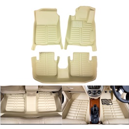 Honda City 5D Custom Floor Mat Beige - 2008-2021 | Car Interior Mats For Floor | Car Mats | Vehicle Mats | Foot Mat For Car | Custom Car Floor Mats-SehgalMotors.Pk