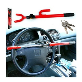 Car Security Long Steering Wheel Lock Red-SehgalMotors.Pk