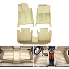 Honda Civic 5D Custom Floor Mat Beige - 2016-2020-SehgalMotors.Pk
