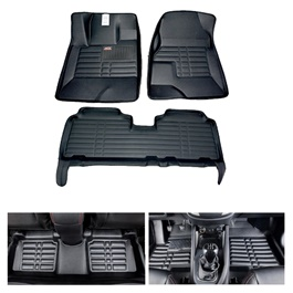 Honda Civic 5D Custom Floor Mat Black - Model 2016-2019-SehgalMotors.Pk