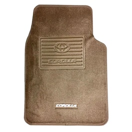 Toyota Corolla Tufted Floor Mat Beige - Model 2003-2008-SehgalMotors.Pk