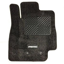 Toyota Premio Irani Custom Tufted Floor Mat Black-SehgalMotors.Pk