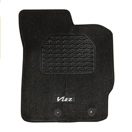 Toyota Vitz Irani Custom Tufted Floor Mat Black - Model 2010-2017