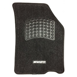 Suzuki Swift Irani Custom Tufted Floor Mat Black-SehgalMotors.Pk