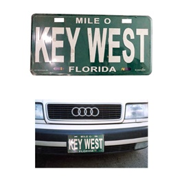 Key West Florida Number Plate Green and White - Each-SehgalMotors.Pk