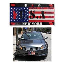 USA New York Number Plate - Each-SehgalMotors.Pk