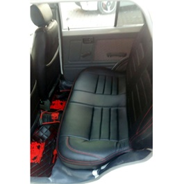 Suzuki Mehran Seat Covers Black with Red Stitching-SehgalMotors.Pk