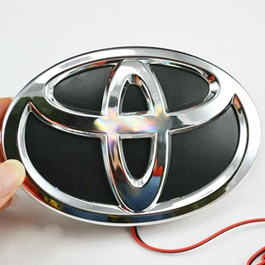 Toyota 5D LED Monogram Red | Emblem | Decal | Monogram | Logo-SehgalMotors.Pk