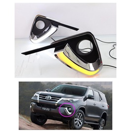 Toyota Fortuner Fog Lamp DRL Covers - 2016-2017-SehgalMotors.Pk