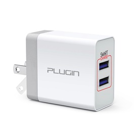 Plugin Surge 2.0 USB Mobile Charger with 2 Smart Charge Ports-SehgalMotors.Pk