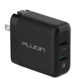 Plugin Fusion USB Mobile Charger with Smart Charge and Qualcomm 3.0 Ports-SehgalMotors.Pk