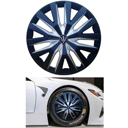 Wheel Cup ABS Black Silver - 14 Inches WD1-1SL-14-SehgalMotors.Pk