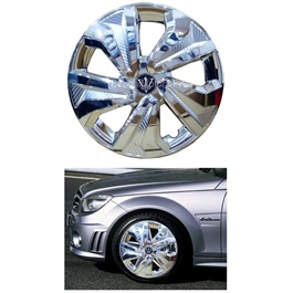 Wheel Cover ABS Chrome - 15 Inches Wk0-6CR-15-SehgalMotors.Pk