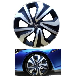 Wheel Cover ABS Black Silver - 15 inches - WK1-1SL-15-SehgalMotors.Pk