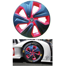 Wheel Cups / Wheel Covers ABS Black Red - 12 Inches Wk2-1RD-12-SehgalMotors.Pk