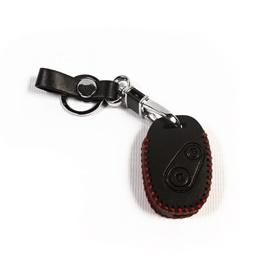 Honda City Leather Key Cover 2 Button with Key Chain / Key Ring - Model 2008-2014-SehgalMotors.Pk