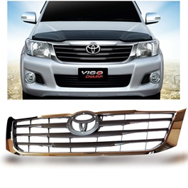 Toyota Vigo Front Chrome Grille - Model 2005-2016-SehgalMotors.Pk