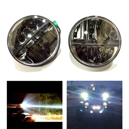 Jeep Headlights High Low 7 inches Pair - MX6088DB-SehgalMotors.Pk