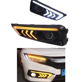 Honda Civic Mustang Audi Style DRL Cover - Model 2016-2020-SehgalMotors.Pk