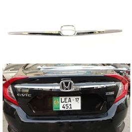 Honda Civic Back Rear Trunk Lid Chrome Garnish - Model 2016-2021 MA00919-SehgalMotors.Pk