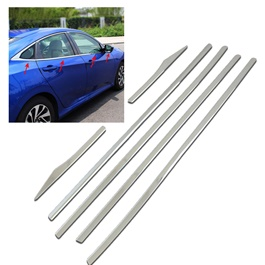 Honda Civic Chrome Weather Strips - Model 2016-2020-SehgalMotors.Pk