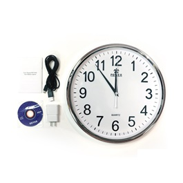 Premium Wall Clock With Hidden Camera - 1080p-SehgalMotors.Pk