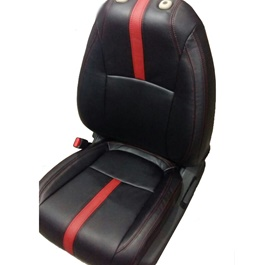 Honda Civic Seat Covers Black with Red Stitching and Red Single Line - Model 2016-2020-SehgalMotors.Pk