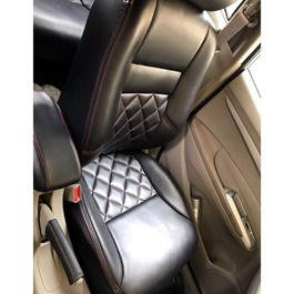 Honda City Seat Covers Black with Red Stitching - Model 2015-2017