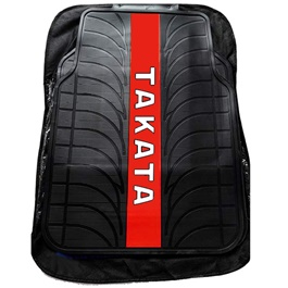 Takata PVC Floor Mat Black and Red