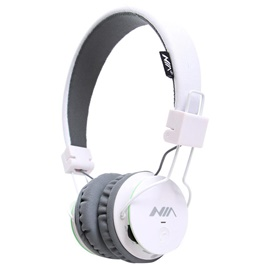 NIA X2 Bluetooth Wireless Headphone - White | Hearing Protection Safety Earmuffs Headphoe Noise Reduction Ear Protector Soundproof Headphones-SehgalMotors.Pk