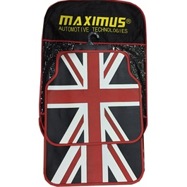 UK PVC Floor Mat Red and Black-SehgalMotors.Pk