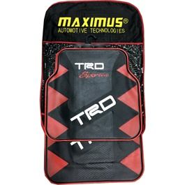 TRD Sportivo PVC Floor Mat Black and Red - Universal-SehgalMotors.Pk