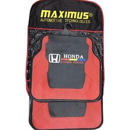 Honda Mugen Power PVC Floor Mat Black and Red-SehgalMotors.Pk