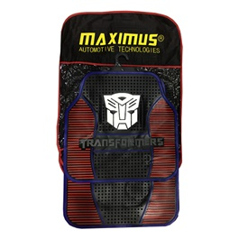 Transformers PVC Floor Mat Black and Red | Rubber Floor Mats | Car Mats | Vehicle Mats | Foot Mat For Car | Latex Mats -SehgalMotors.Pk