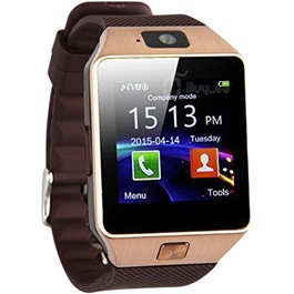 Premium Android Golden Smart Watch - DZ09  | Smart Watch Phone Call Bluetooth Smart Watch | Wrist Watch | Advance Technology Watch | Android Watch-SehgalMotors.Pk