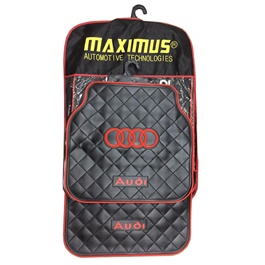 Audi Floor Mat Red and Black-SehgalMotors.Pk
