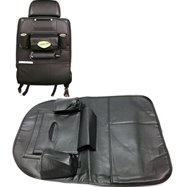 Back Seat Organizer in Leather Black-SehgalMotors.Pk