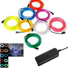 Maximus RGB EL Glow Wire with Remote for Interior  / Dashboard LED Light  - 7-colors-SehgalMotors.Pk