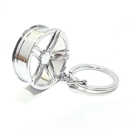 Alloy Rim Metal Key Chain Chrome Design A