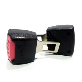 Double Buckle Seat Belt Clips Red & Black-SehgalMotors.Pk