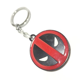 Dead Pool Metal Key Chain Red & Black-SehgalMotors.Pk