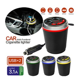 Car Multi Functional Cigarette e Lighter - 3.1A-SehgalMotors.Pk