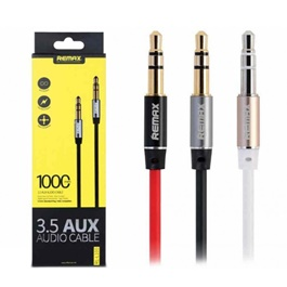 Remax Aux Audio Cables | Audio Extension Cable | Aux Cable For Stereo-SehgalMotors.Pk
