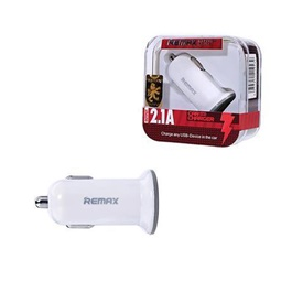Remax USB Car Charger 1 Port White - 2.1A