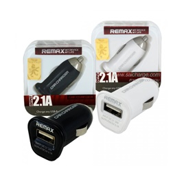 Remax USB Car Charger 1 Port White - 2.1A-SehgalMotors.Pk