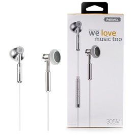 Remax Wired Control Metal Earphone 305M-SehgalMotors.Pk