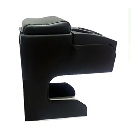 Leather XL Size Arm Rest with 2 Cups-SehgalMotors.Pk
