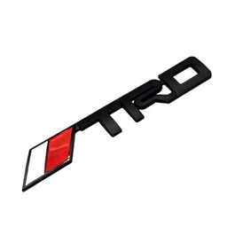 TRD Metal Monogram  Red and White