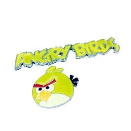 Angry Bird Metal Monogram Yellow | Emblem | Decal | Monogram | Logo-SehgalMotors.Pk