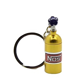 Nos Can Key Chain / Key Ring - Golden-SehgalMotors.Pk